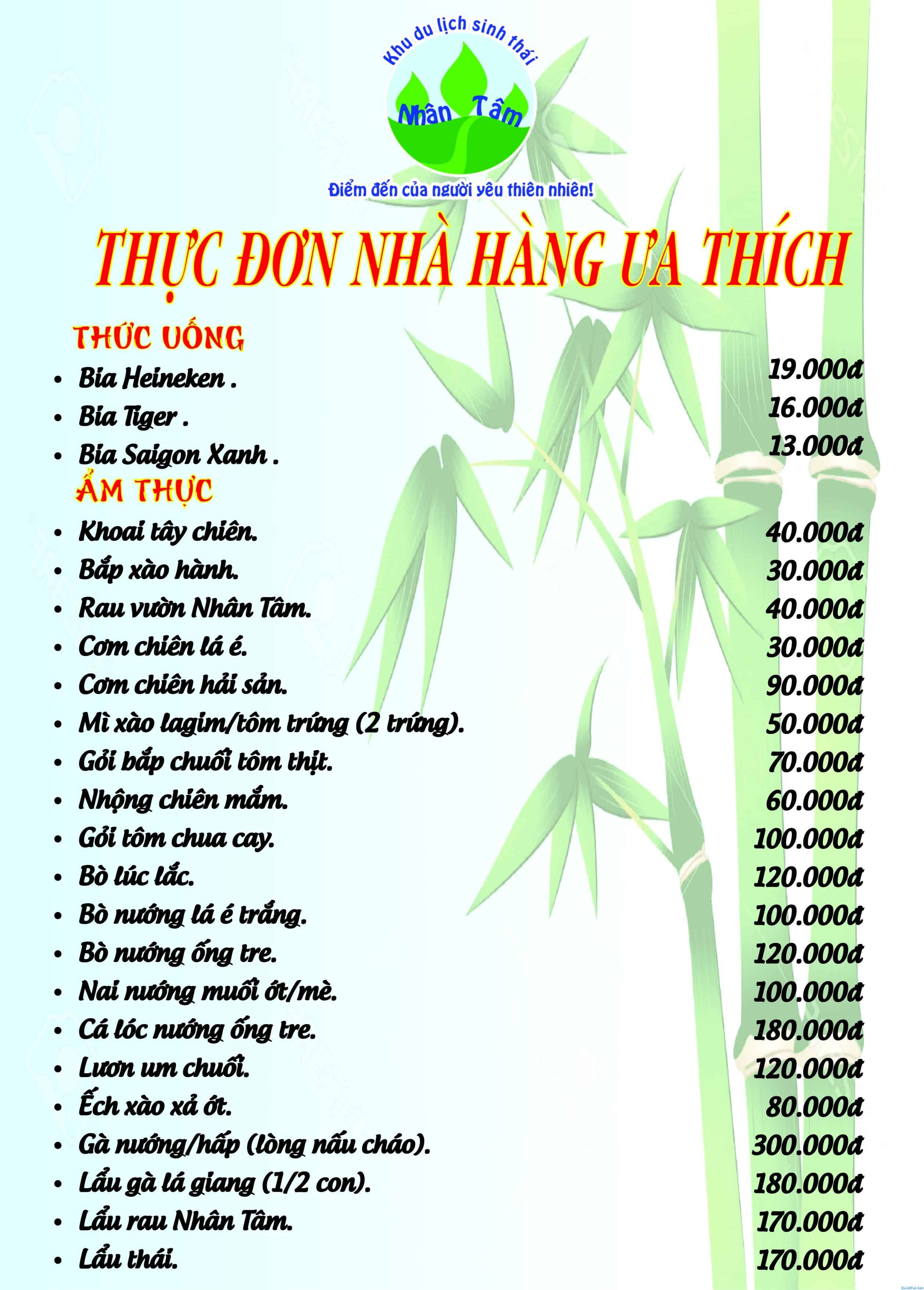 Kinh nghiệm du lịch khu sinh thái Nhân Tâm, Nha Trang đẹp. Hướng dẫn, review khu du lịch sinh thái Nhân Tâm, Nha Trang cụ thể ăn ở