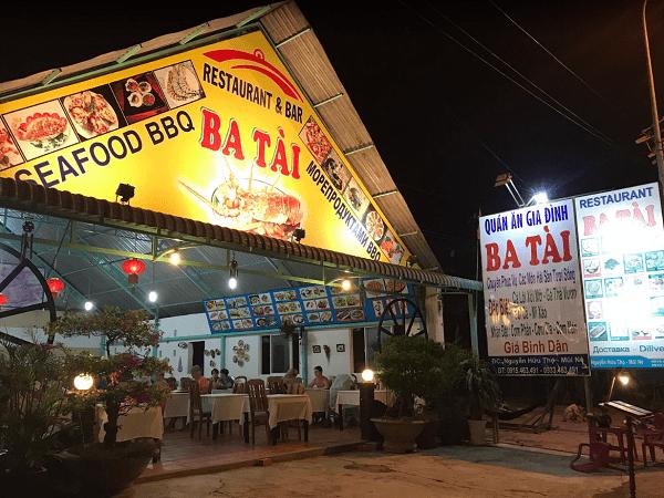 10 nhà hàng, quán ăn hải sản ngon ở Mũi Né, Phan Thiết giá rẻ nhất. Mũi Né có quán hải sản nào ngon? Nhà hàng Ba Tài