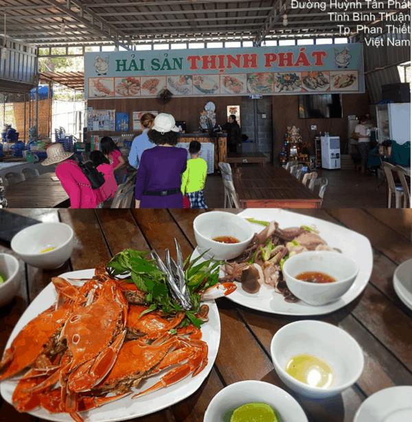 Quán ăn hải sản ngon ở Mũi Né giá bình dân. Ăn hải sản ở đâu Mũi Né ngon, giá rẻ? Quán Thịnh Phát