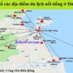 Bản đồ các địa điểm du lịch Đà Nẵng nổi tiếng. Bản đồ du lịch Đà Nẵng