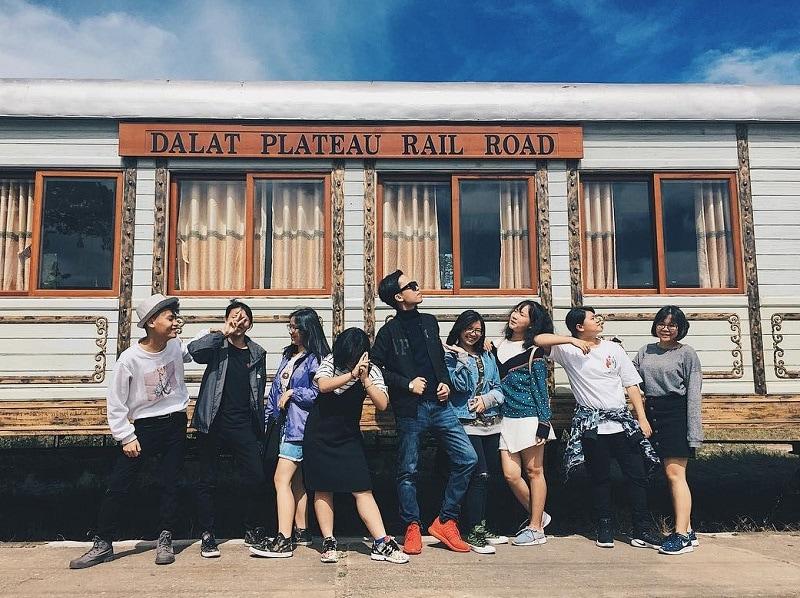 Địa điểm check in Đà Lạt, ga xe lửa Đà Lạt