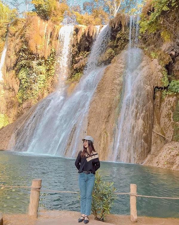 Kinh nghiệm du lịch Mộc Châu, địa điểm tham quan ở Mộc Châu, thác dải Yếm