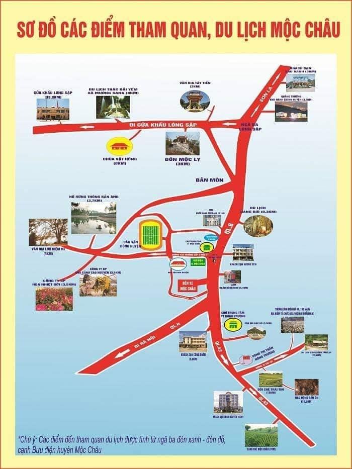 Hướng dẫn đường đi du lịch Mộc Châu bằng xe máy