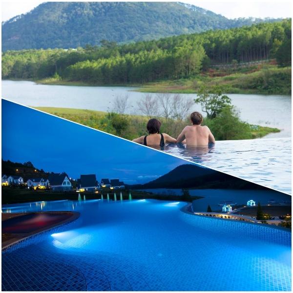 Hồ bơi ngoài trời ở Đà Lạt Wonder Resort. Có nên ở Đà Lạt Wonder Resort hay không?