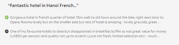 Review khách sạn Sofitel Legend Metropole Hà Nội, đánh giá của du khách nước ngoài