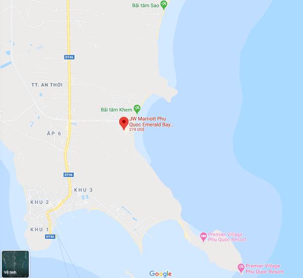 Vị trí của JW Marriott Phu Quoc Emerald Bay
