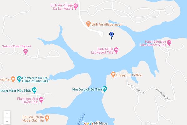 Vị trí của Bình An Village Resort Đà Lạt