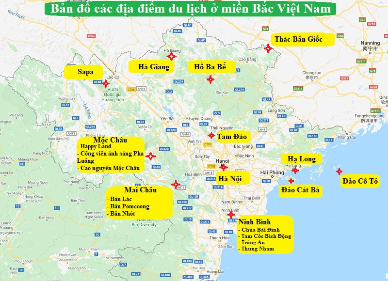 Bản đồ Du Lịch Việt Nam 2020 Kem Thời Gian địa điểm Nen Tới