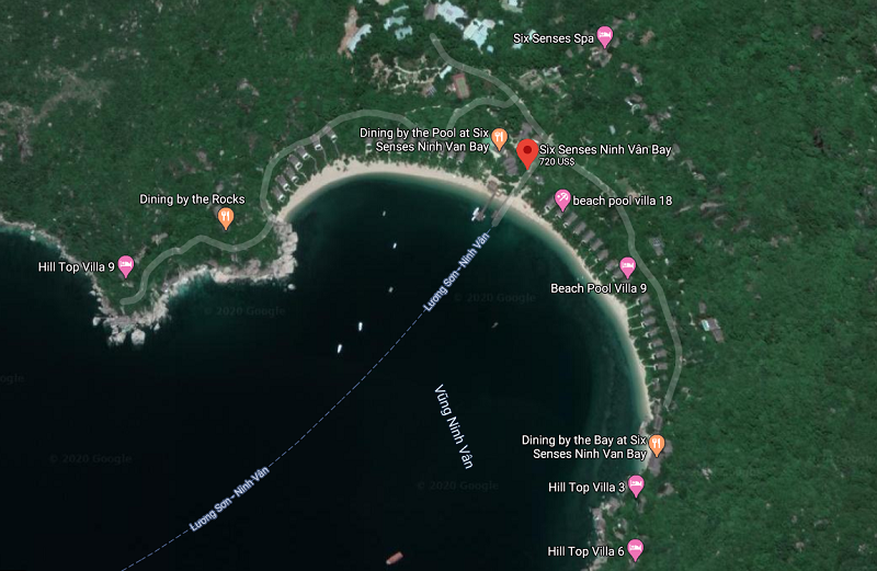 Đánh giá Six Sences Ninh Vân Bay Resort có tốt, đẹp như quảng cáo? Vị trí của Six Sences Ninh Vân Bay Resort trên bản đồ vệ tinh