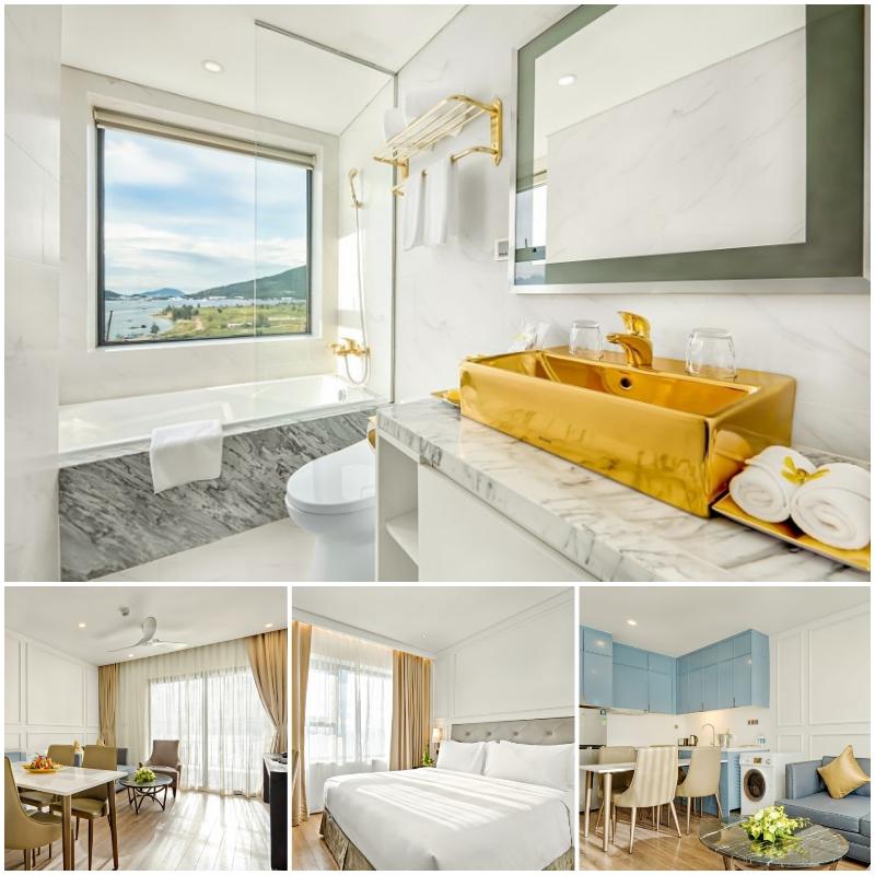 Khách sạn Golden Bay Đà Nẵng review phòng ốc, tiện nghi. Phòng Corner Suite