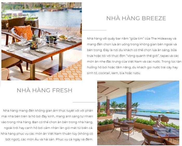 Review Fusion Resort Cam Ranh, Nhà hàng Fresh và nhà hàng Breeze