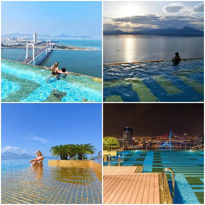 Review khách sạn Golden Bay Đà Nẵng. Hồ bơi vô cực ở khách sạn Golden Bay Đà Nẵng