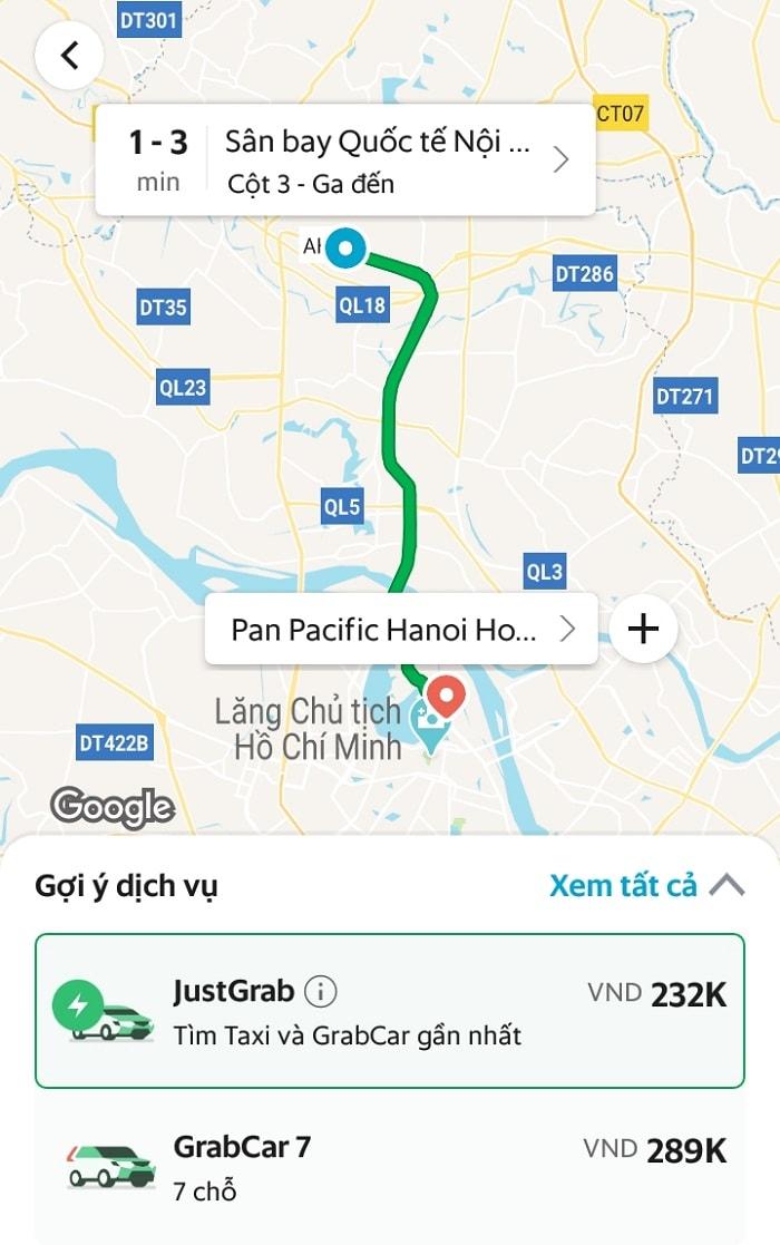 Review khách sạn Pan Pacific Hà Nội, chi phí đi Grab từ sân bay Nội Bài