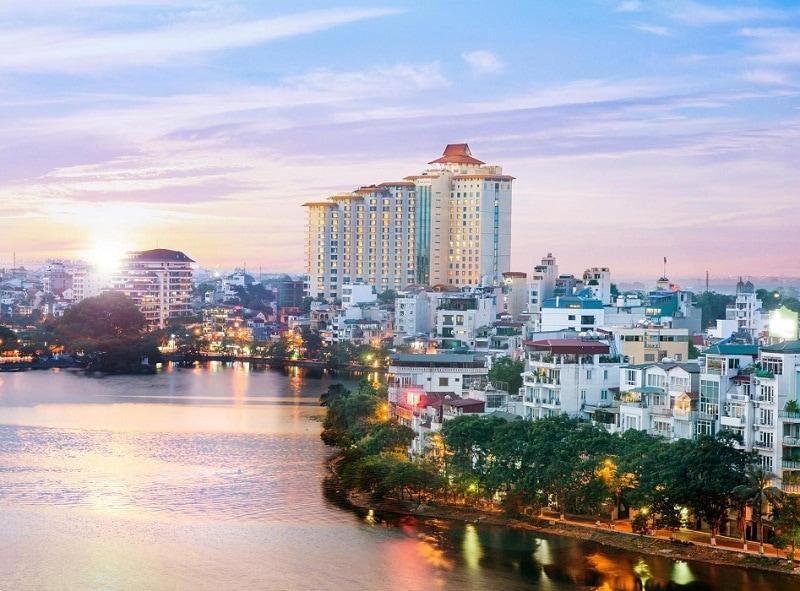 Review khách sạn Pan Pacific Hà Nội, khách sạn Pan Pacific Hà Nội nhìn từ xa