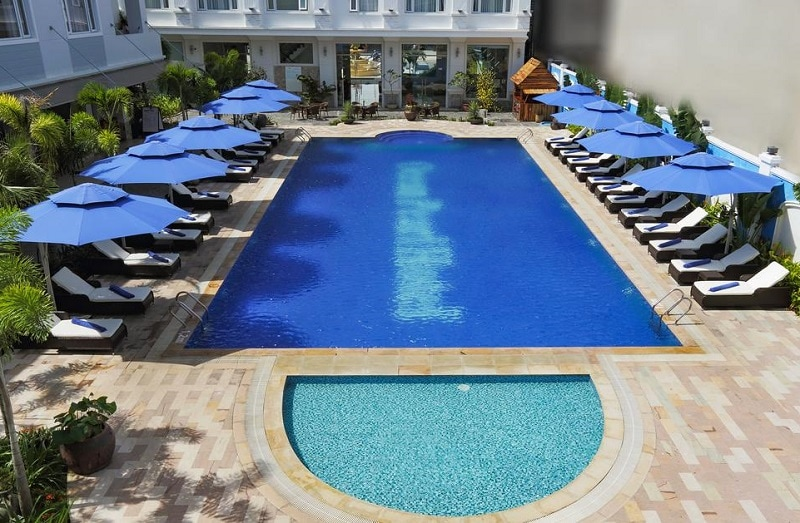 Review khách sạn Phú Quốc Ocean Pearl. Hồ bơi ngoài trời, tiện ích thư giãn & vui chơi giải trí ở khách sạn Phú Quốc Ocean Pearl
