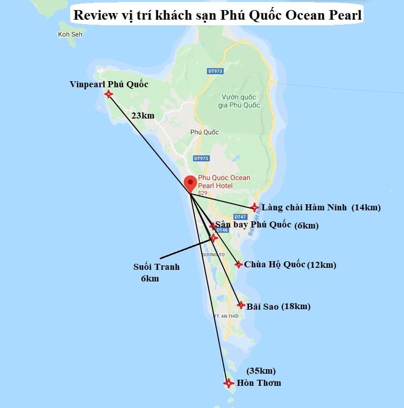 Review vị trí của khách sạn Phú Quốc ocean Pearl. Khách sạn Phú Quốc Ocean Pearl ở đâu, địa chỉ?