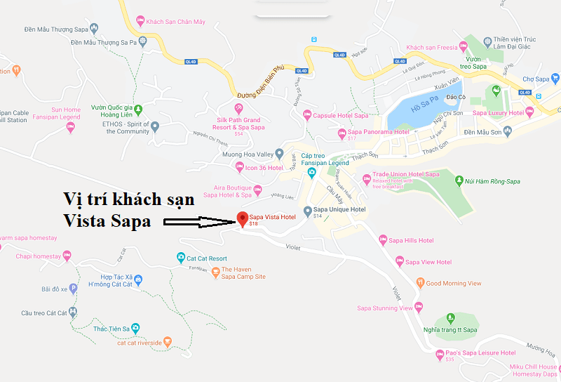 Review vị trí khách sạn Vista Sapa. Khách sạn Vista Sapa nằm ở đâu?