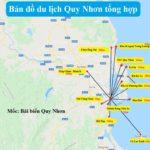 Bản đồ du lịch Quy Nhơn về điểm tham quan nổi tiếng. Bản đồ các địa điểm du lịch nổi tiếng ở Quy Nhơn