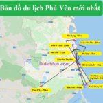 Bản đồ du lịch Phú Yên về điểm tham quan nổi tiếng nhất. Bản đồ các điểm tham quan nổi tiếng ở Phú Yên