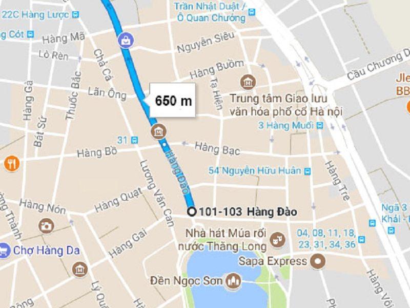 Review du lịch chợ Đồng Xuân quán ăn ngon. Đường đi tới chợ Đồng Xuân
