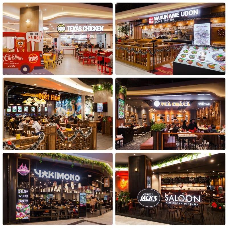 Kinh nghiệm đi chơi ở Aeon Mall Hà Đông, Một số nhà hàng nổi tiếng ở Aeon Mall Hà Đông