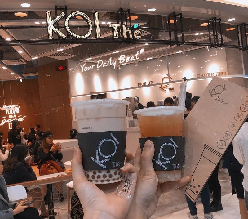 Ăn gì ở Aeon Mall Hà Đông? Trà sữa Koi Thé