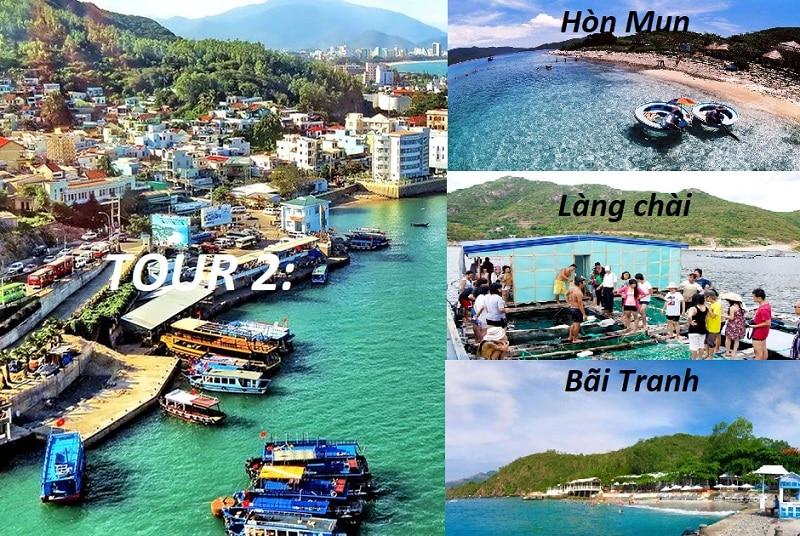 Lịch trình 2: Tour 4 đảo ở Nha Trang - BÃI TRANH