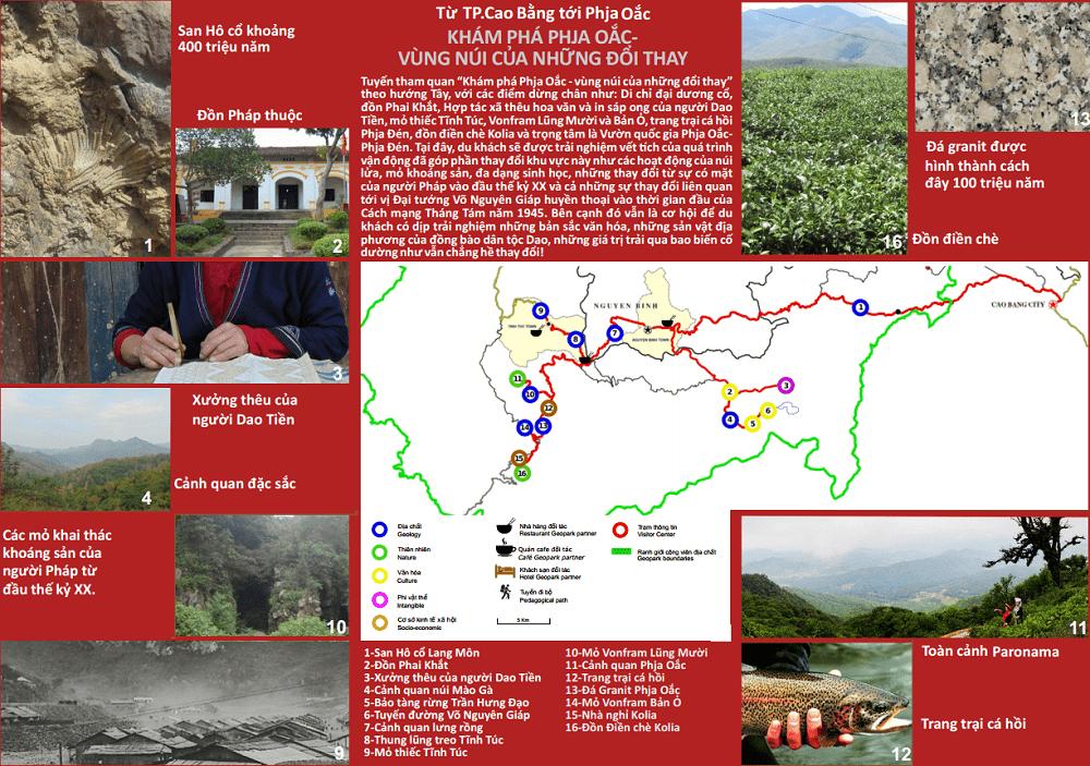 Review công viên địa chất Non Nước Cao Bằng, tuyến 1 công viên địa chất Non nước Cao Bằng