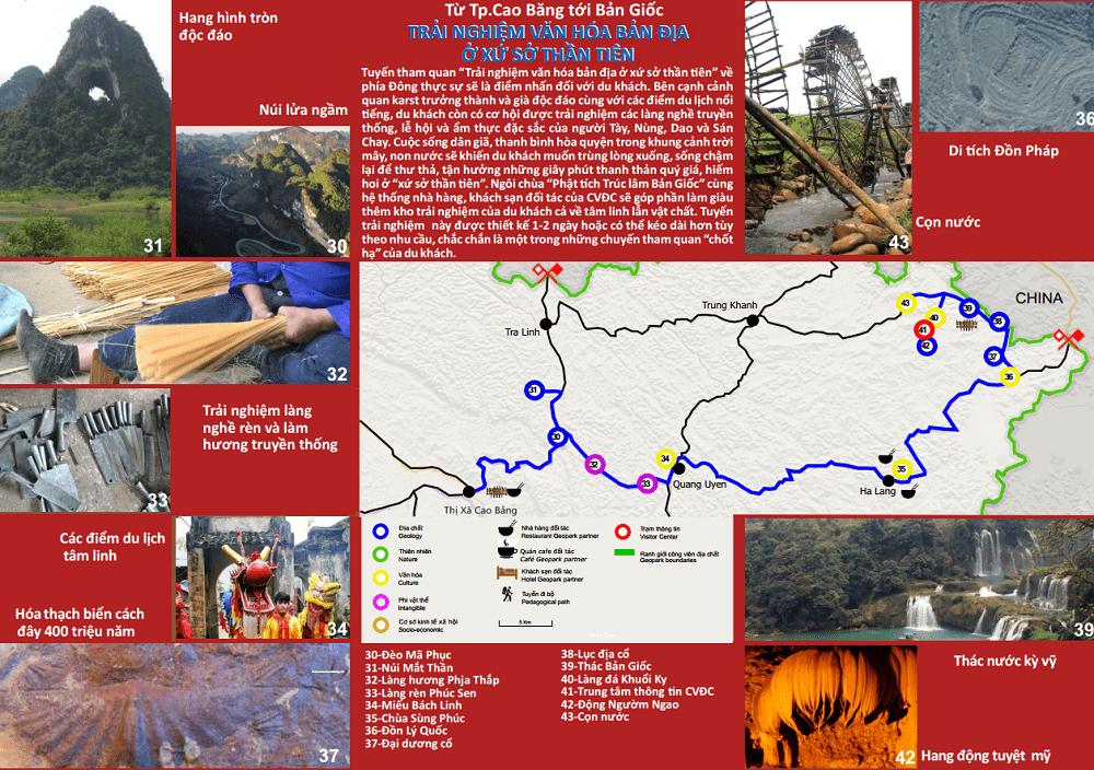 Tuyến du lịch 3 của công viên địa chất Non Nước Cao Bằng