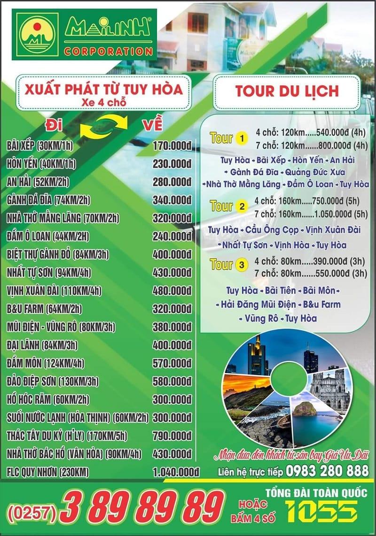 Taxi Mai Linh Phú Yên - Hãng taxi lớn nhất ở Phú Yên