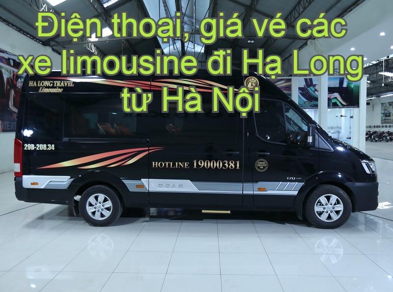 Xe limousine Hà Nội Hạ Long Quảng Ninh chạy hàng ngày. Hà Nội đi Hạ Long có xe limousine nào? Hạ Long Travel Limousine