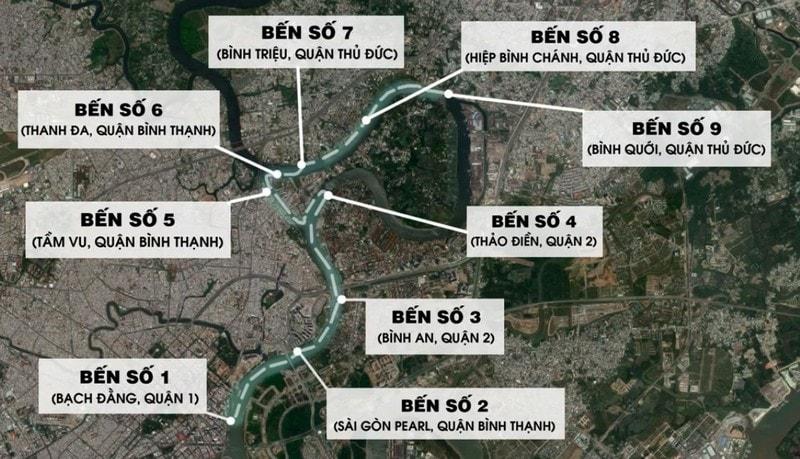 Thông tin lộ trình, giờ chạy của các tuyến bus trên sông Sài Gòn