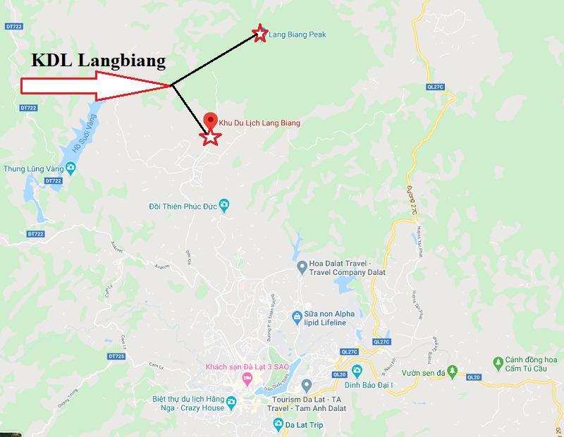 Đỉnh núi Langbiang ở đâu? Vị trí của khu du lịch núi Langbiang