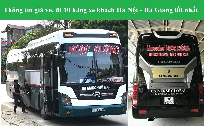 Danh sách các nhà xe đi Hà Giang từ Hà Nội. Xe khách Hà Giang Hà Nội tốt nhất