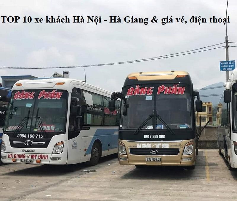 Giá vé, điện thoại hãng xe khách Hà Nội Hà Giang
