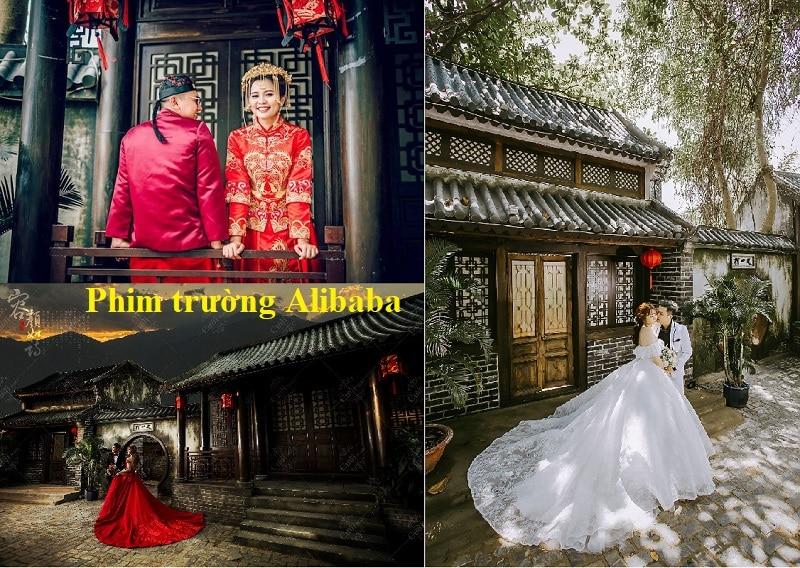 Review phim trường Alibaba chi tiết. Concept chụp ảnh ở phim trường Alibaba. Phố cổ trung hoa